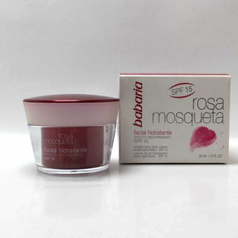 کرم مرطوب کننده پوست صورت رزا (حاوی ضد افتاب) باباریا 50ML محصولات - BABARIYA