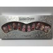 ناخن مصنوعی نگین دار - Golden Dryem