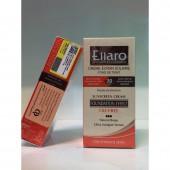 کرم ضد آفتاب الارو با پوشش کرم پودر بژ طبیعی Ellaro spf30