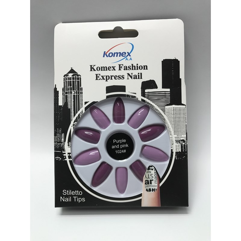 ناخن مصنوعی - KOMEX Purple and pink