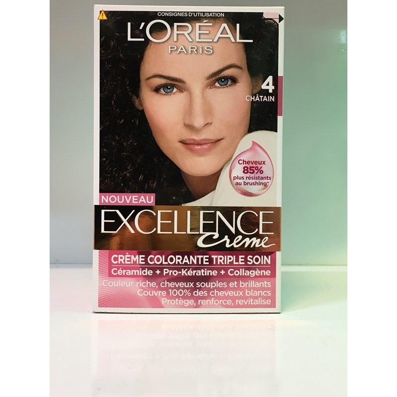 کیت رنگ مو اکسلانس قهوه ای خیلی تیره شماره 4 لورال محصولات - LOREAL