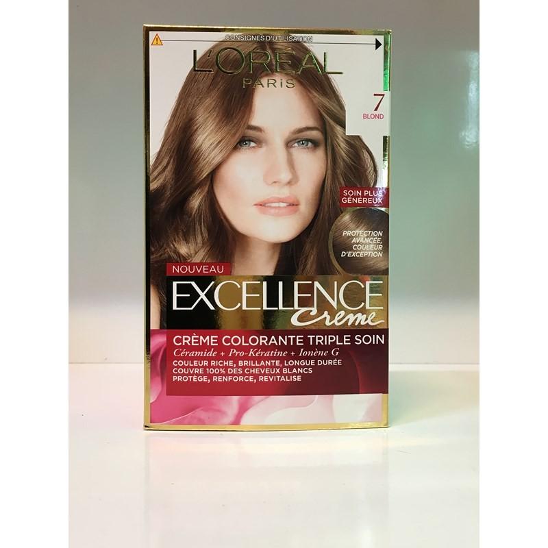 کیت رنگ مو اکسلانس بلوند تیره شماره 7 لورال محصولات - LOREAL