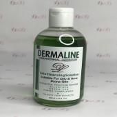 محلول پاک کننده پوست چرب درمالاین حجم 250 میل -DERMALINE