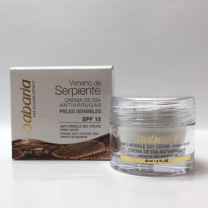 کرم مرطوب کننده و ضدچروک صورت مار حاوی ضد آفتاب باباریاSPF15  50 ML محصولات - BABARIYA